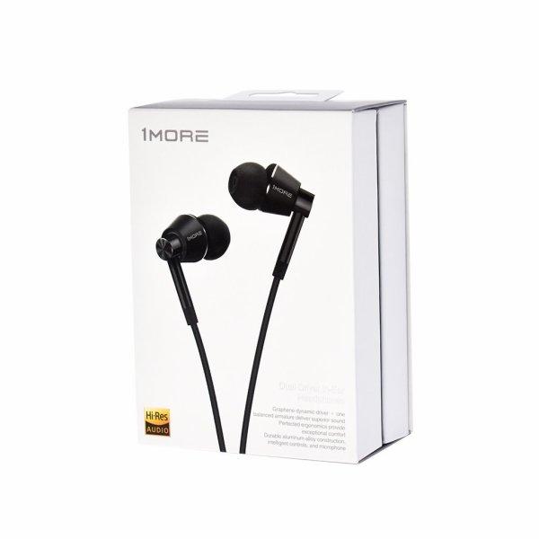 1More Dual Driver In Ear Headphones Black, hinta 50€