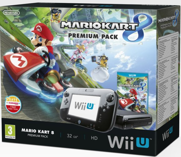 nintendo wii u premium pack mario kart 8 319. Black Bedroom Furniture Sets. Home Design Ideas